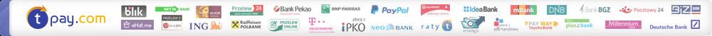 Płatności internetowe zapewnia serwis Tpay.pl , dzięki któremu mogą Państwo wybrać jedną z 40 metod płatności