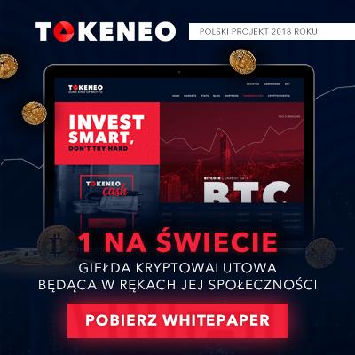 Tokeneo - Polski projekt 2018 roku - pobierz whitepaper
